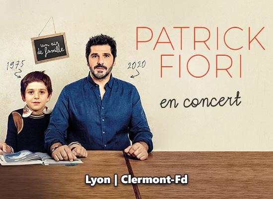 Patrick Fiori en concert à Clermont et Lyon