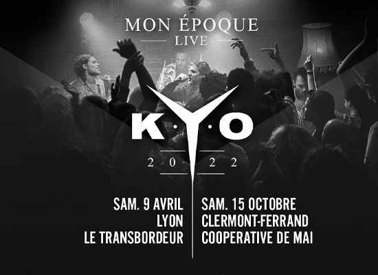 Kyo en tournée 2022