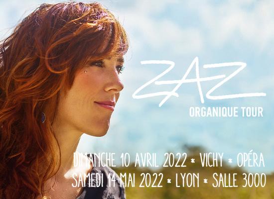 Zaz Organique Tour, en concert àVichy et Lyon en 2022